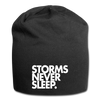 Storms Never Sleep. Jersey Beanie - black