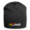 Hooked Jersey Beanie - black