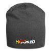 Hooked Jersey Beanie - charcoal gray