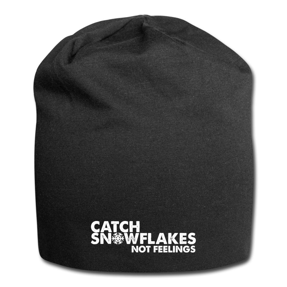Catch Snowflakes Not Feelings Jersey Beanie