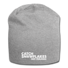 Catch Snowflakes Not Feelings Jersey Beanie - black