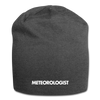 Meteorologist Jersey Beanie - charcoal gray