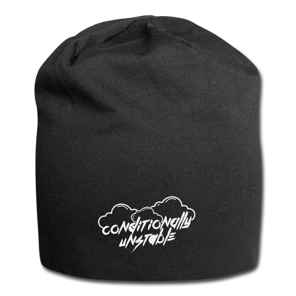 Conditionally Unstable Jersey Beanie - black