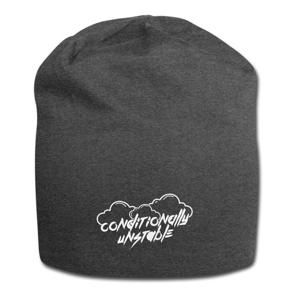 Conditionally Unstable Jersey Beanie - charcoal gray