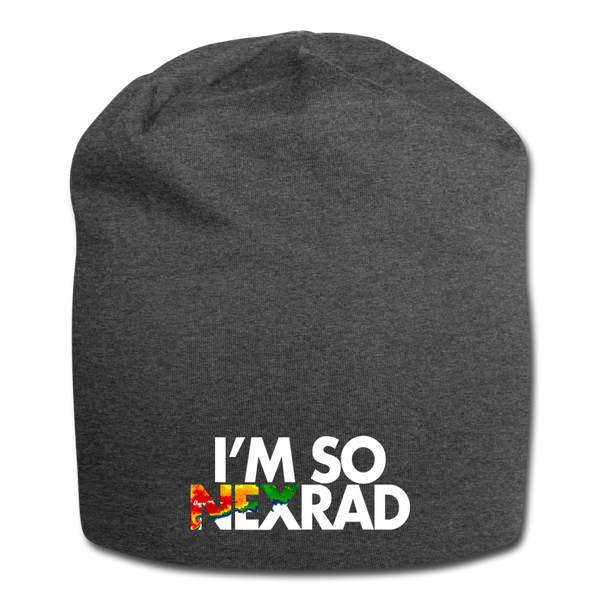 I'm So NEXRAD Jersey Beanie - charcoal gray