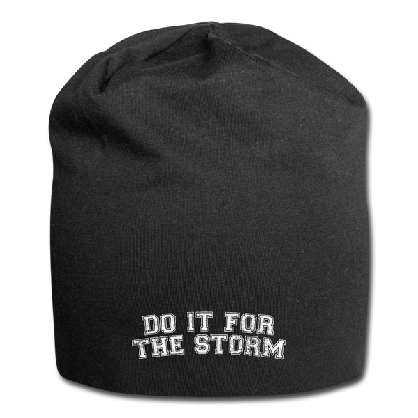 Do It For The Storm Jersey Beanie - black