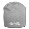 Do It For The Storm Jersey Beanie - heather gray