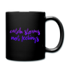 Catch Storms Not Feelings Mug - black