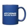 Storms Never Sleep Mug - royal blue