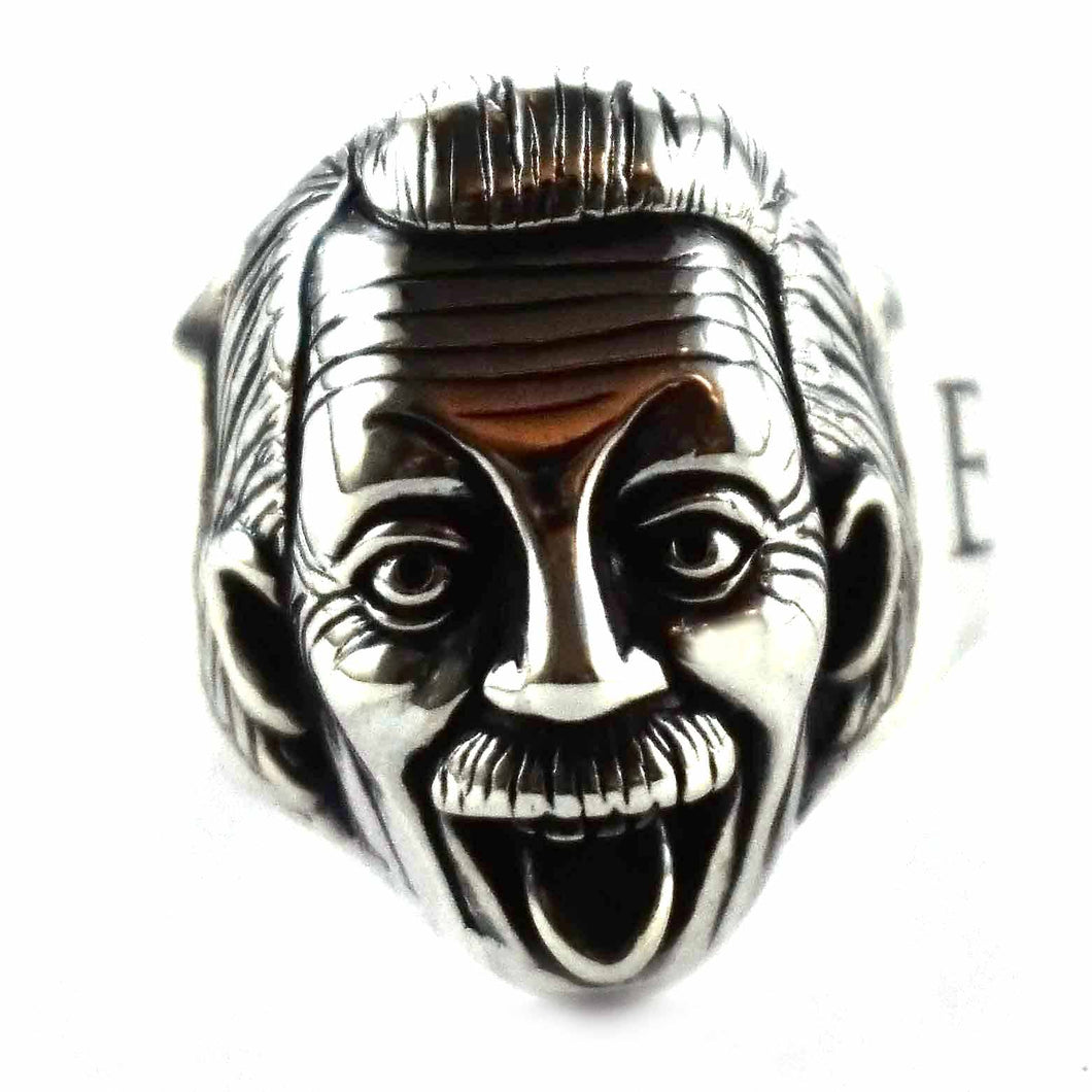 Albert Einstein silver ring