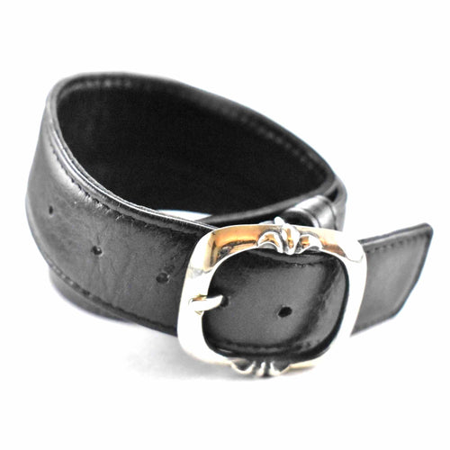 Belt style with leather silver bracelet