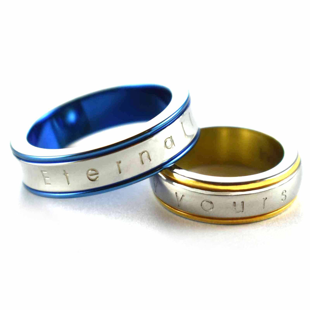 Eternality yours stainless steel couple ring