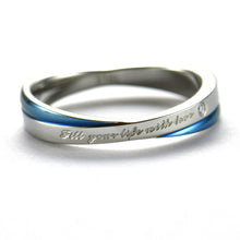 Fill your life with love stainless steel couple ring