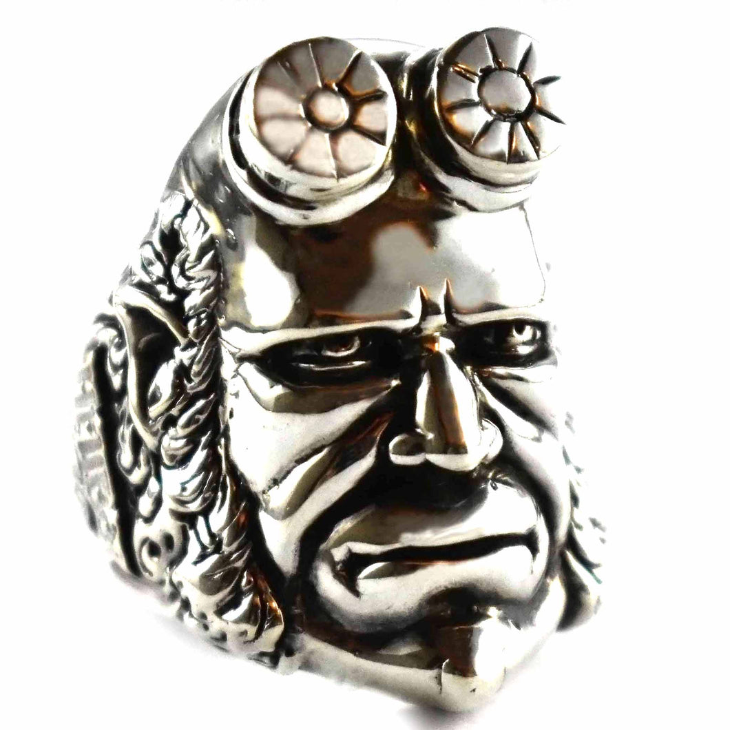 Hell boy silver ring