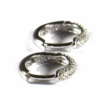 Little circle silver earring with small CZ