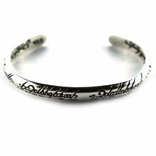 Lord of the ring, silver bangle