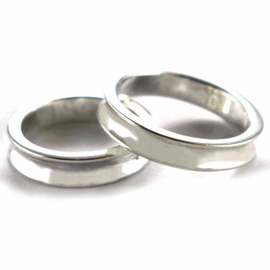 Plain silver couple ring