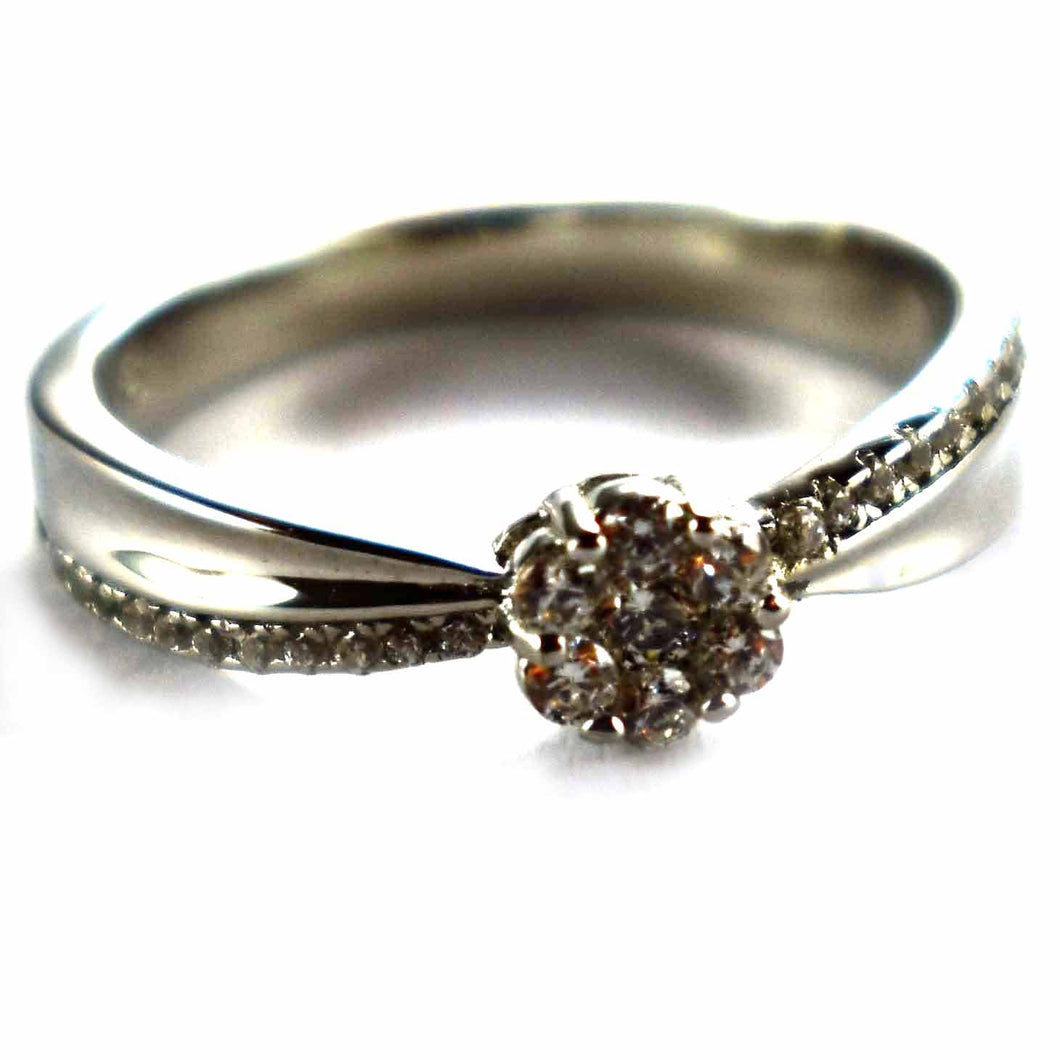 Prong set with white CZ silver ring