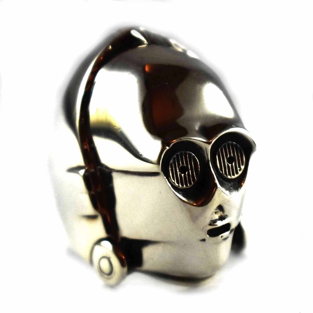 Robot silver ring