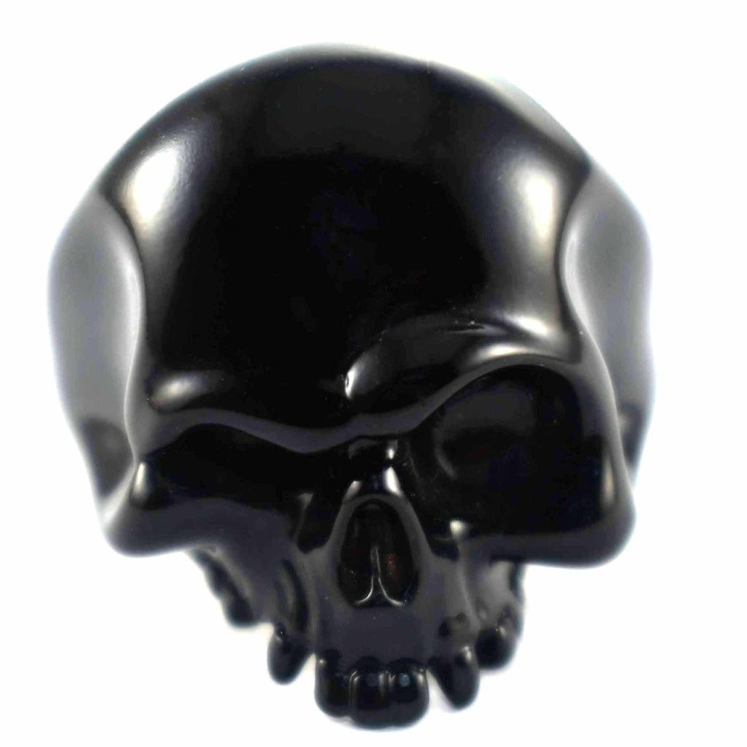 Skull back of matte colour ring