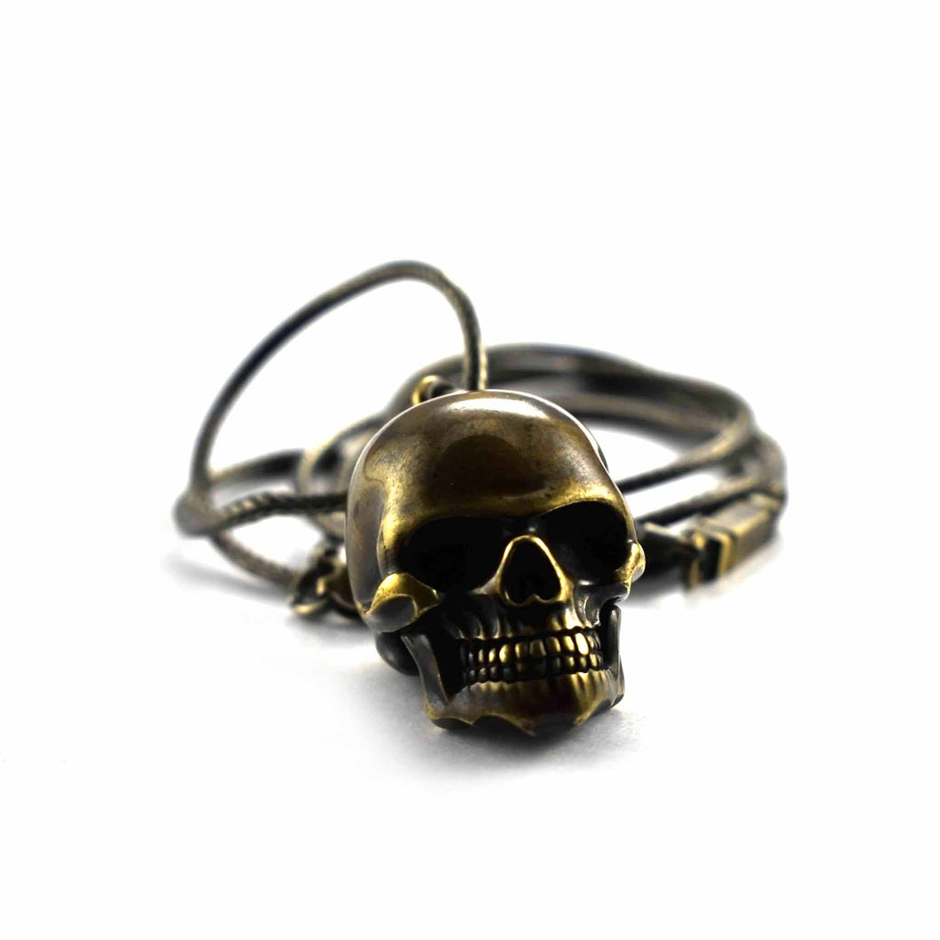 Skull copper necklace