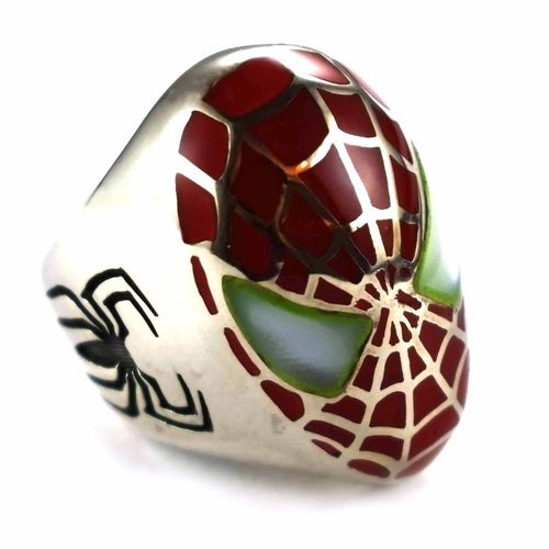 Spiderman silver ring