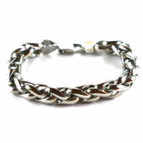 Stainless steel bracelet with rope pattern