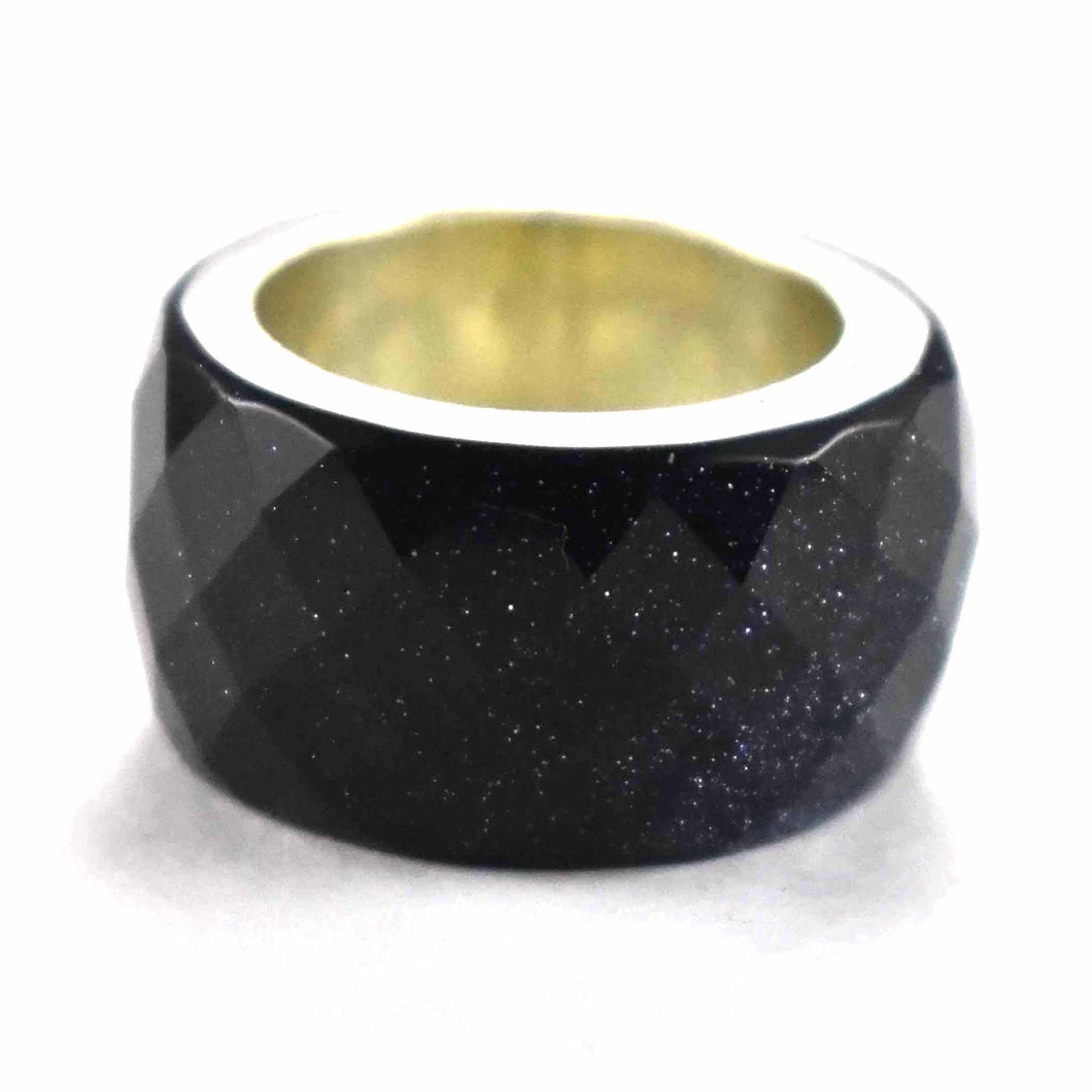 Star dust silver ring