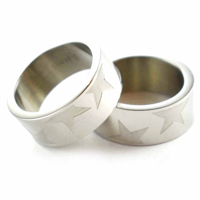 Star pattern stainless steel couple ring