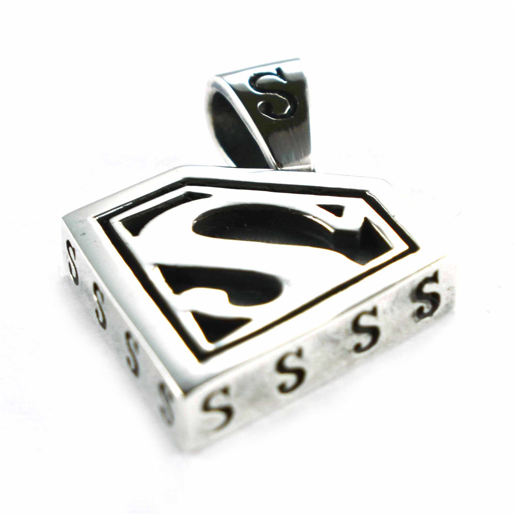 Superman silver pendant