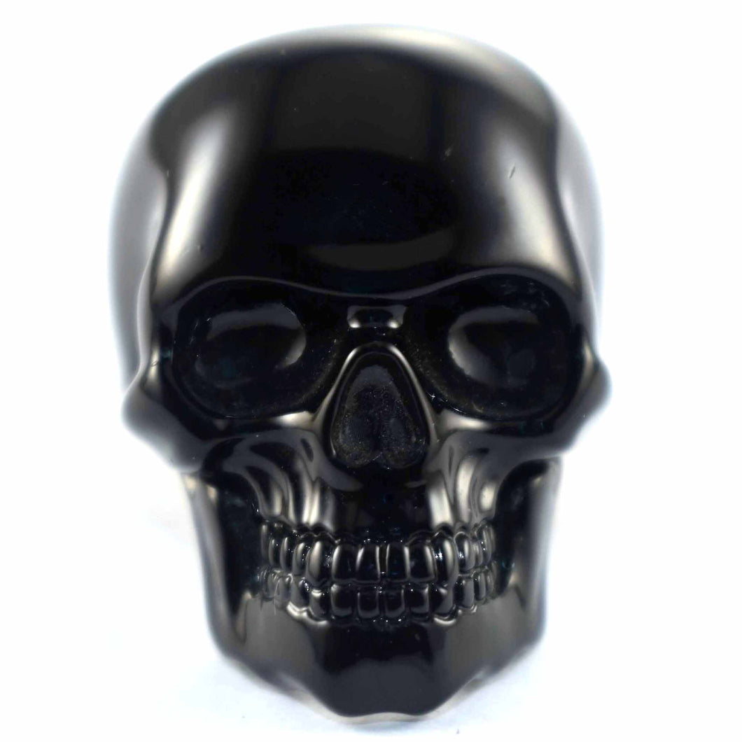 Terminator matte of black skull ring