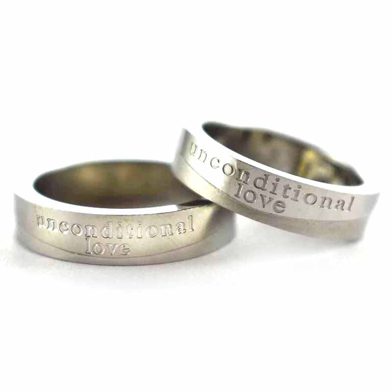 Unconditional Love stainless steel couple ring