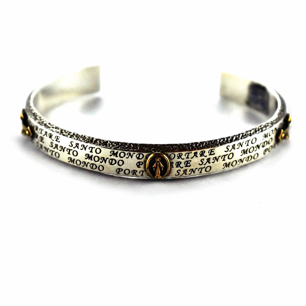 Virgin Mary with copper plating small bangle