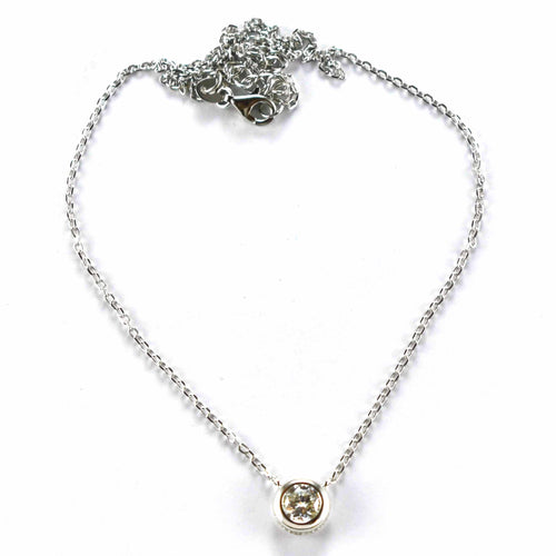 White CZ silver necklace