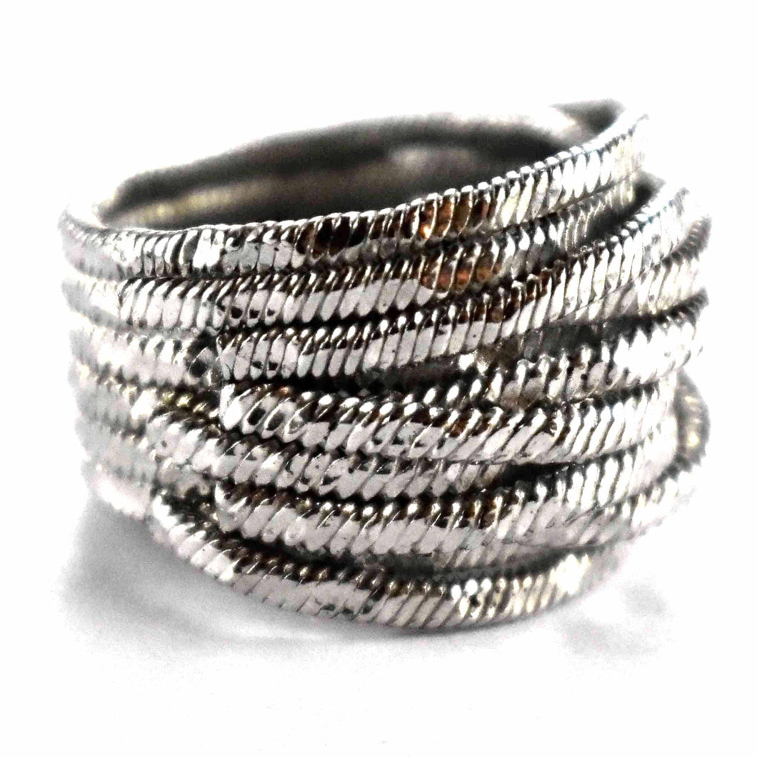 Wire shape with platium plating silver ring