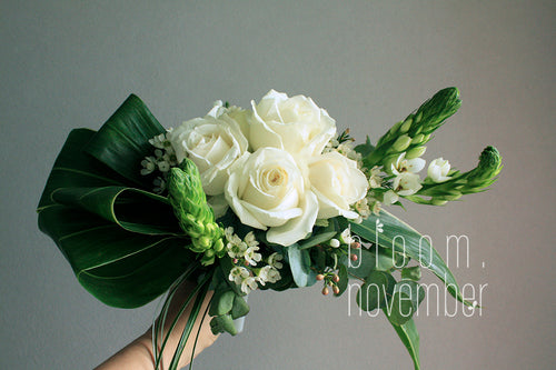 foliage wedding flower bouquet