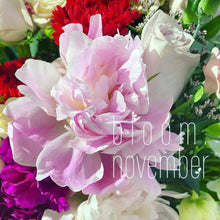bloom november mother day flower bouquet carnation and peony mom with purple