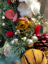 Xmas wreath bloom november real 聖誕花環