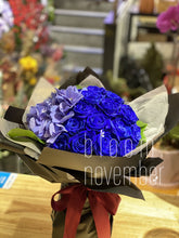 blue rose single tone valentine