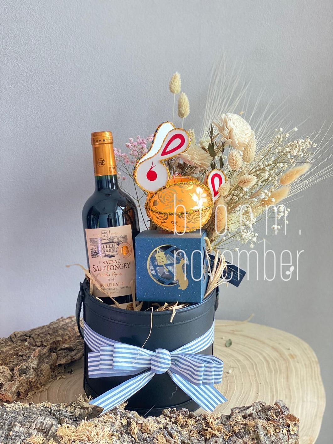 hamper 2020 wine choco bloom november 1299 hamper with schoggi meier mooncake & wine