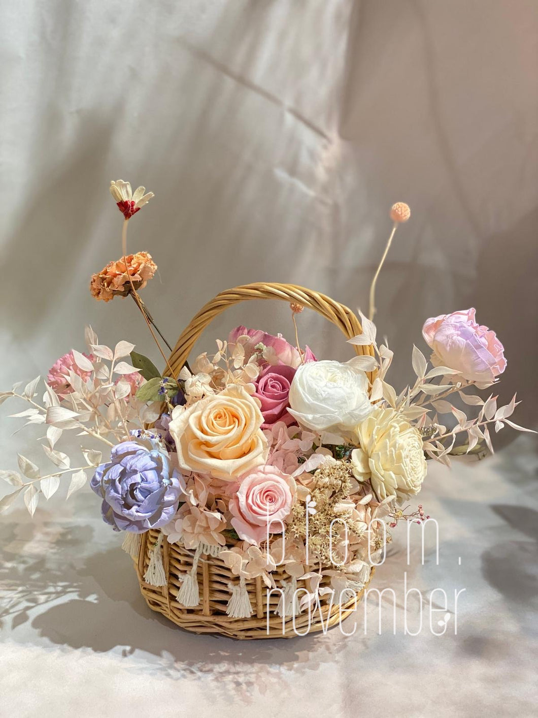 Preserved Flowers Basket