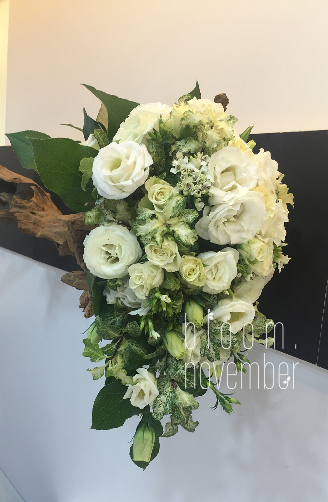 short tail white wedding bouquet fairytale