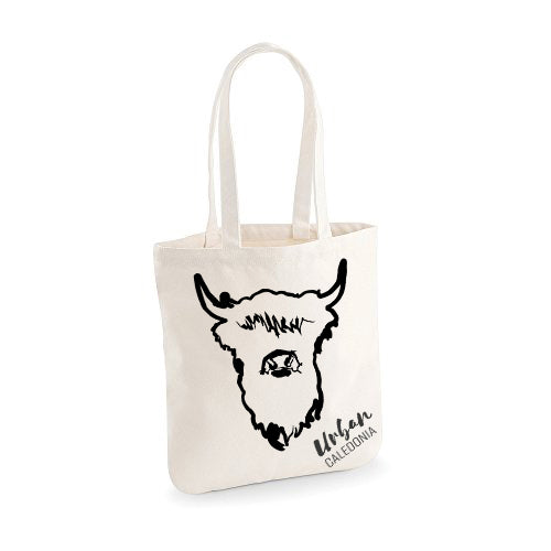 Highland Cow Canvas Bag