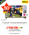 Televisor Led 49 Pulgadas 119 Cms Full Hd Smat tv