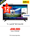 "TV LED 32"" 80 CMS HD"