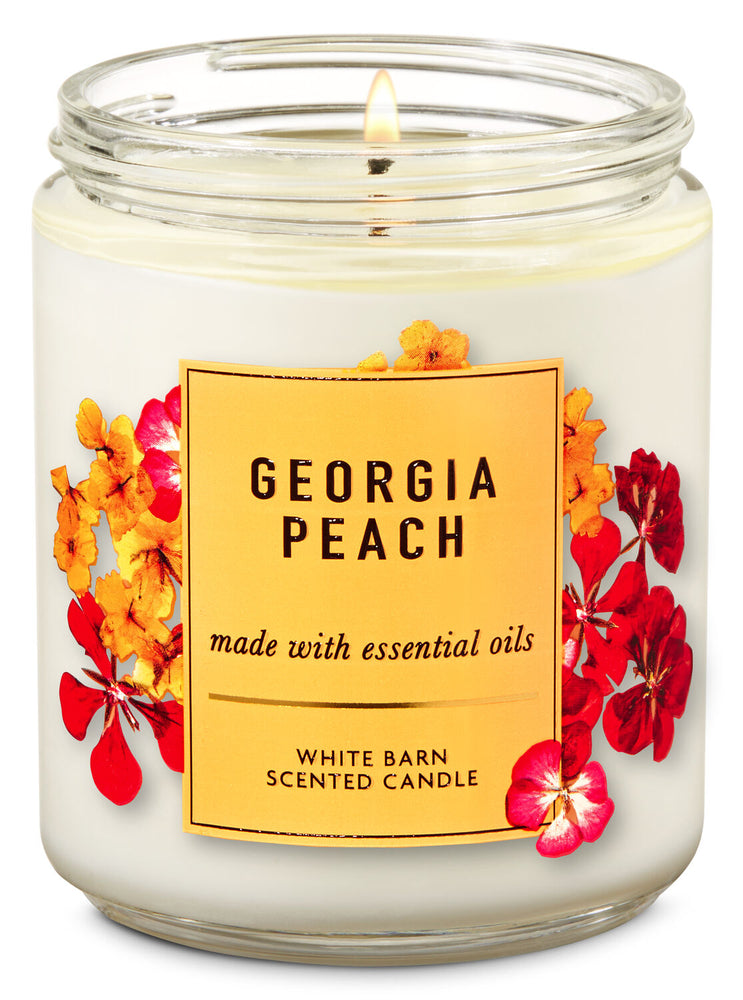 Bath & Body Works - 1-Docht Kerze - Georgia Peach - www.unlimitedbrands.de