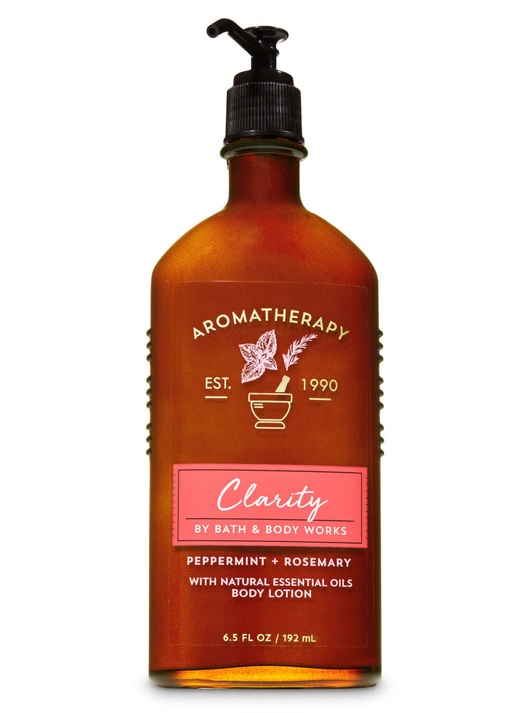 Body Lotion - Aromatherapy - Clarity - Peppermint Rosemary - 192ml