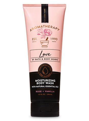 Bath & Body Works - Body Wash - Aromatherapy - Love - Rose Vanilla