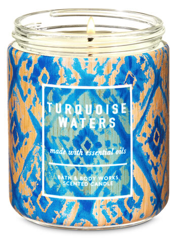 Bath & Body Works - 1-Docht Kerze - Turquoise Waters - www.unlimitedbrands.de