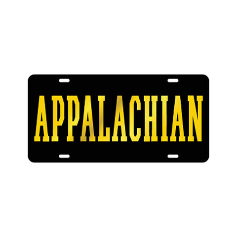 Appalachian Black Laser Cut Car Tag
